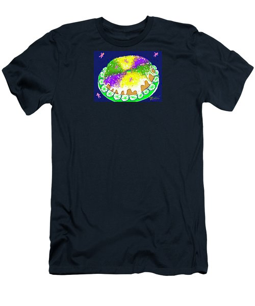 Men's T-Shirt (Slim Fit) featuring the digital art King Cake by Jean Pacheco Ravinski