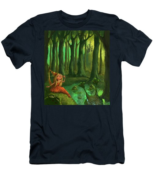 Kissing Frogs Men's T-Shirt (Slim Fit) by Andy Catling