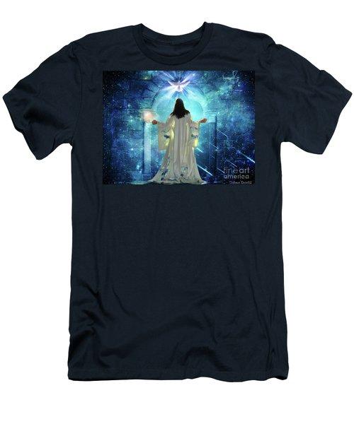 Men's T-Shirt (Slim Fit) featuring the digital art Knocking On Heavens Door by Dolores Develde