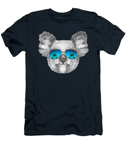 Koala With Mirror Sunglasses Men's T-Shirt (Slim Fit) by Marco Sousa