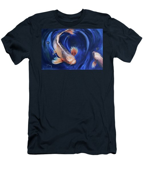 Men's T-Shirt (Slim Fit) featuring the painting Koi by Donna Tuten