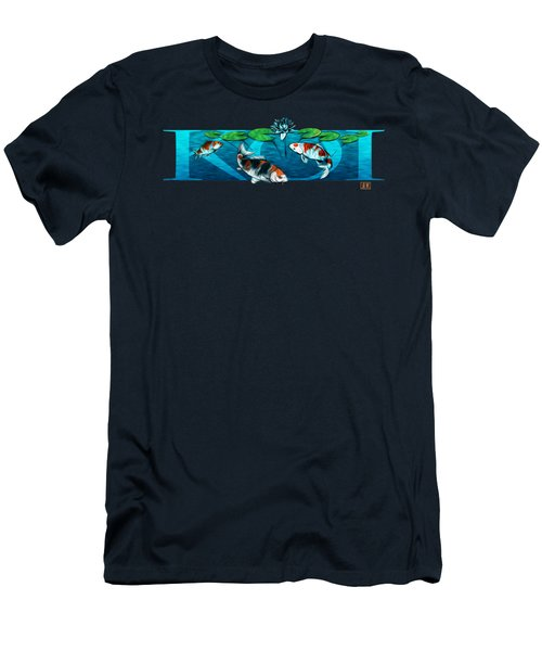 Koi With Type Men's T-Shirt (Athletic Fit)