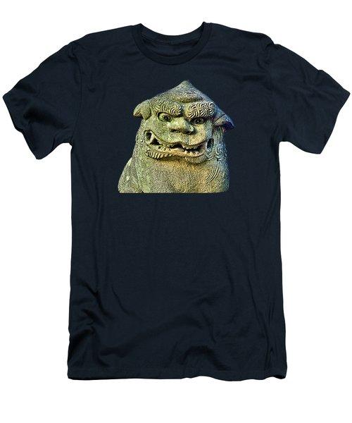 Men's T-Shirt (Athletic Fit) featuring the mixed media Komainu13 by Yoshimitsu Takuki