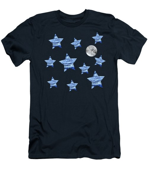Kyanite Stars Under A Crystal Moon Men's T-Shirt (Athletic Fit)