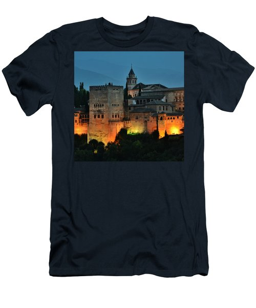 #laalhambra At Dusk - #ig_andalucia Men's T-Shirt (Athletic Fit)