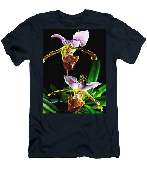 Men's T-Shirt (Athletic Fit) featuring the photograph Lady Slipper Orchid by Elf Evans