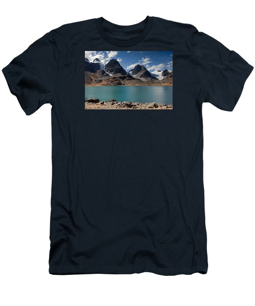 Laguna Chiar Khota In Condoriri Mountains Men's T-Shirt (Athletic Fit)