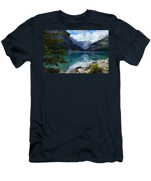 Lake Louise 2 Men's T-Shirt (Slim Fit) by Larry Ricker