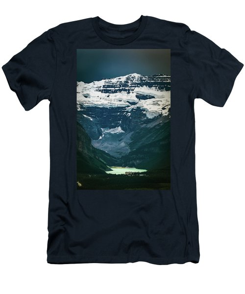 Men's T-Shirt (Athletic Fit) featuring the photograph Lake Louise At Distance by William Lee