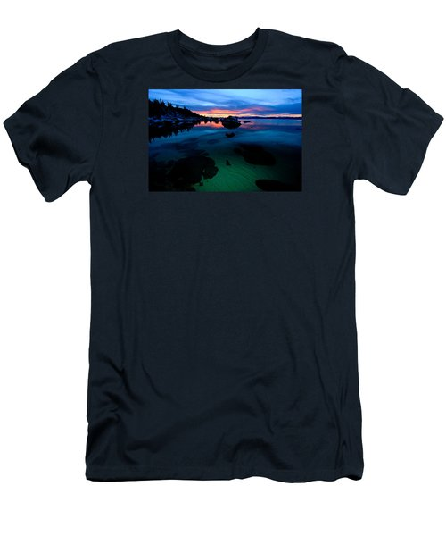 Men's T-Shirt (Athletic Fit) featuring the photograph Lake Tahoe Clarity At Sundown by Sean Sarsfield