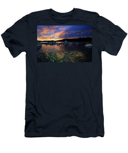 Lake Tahoe Sundown Men's T-Shirt (Athletic Fit)
