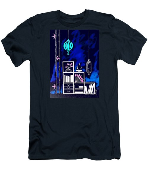 Lamps, Books, Bamboo -- Negative Men's T-Shirt (Athletic Fit)