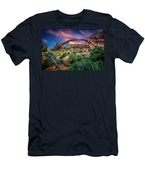 Landscape Arch At Sunset Men's T-Shirt (Athletic Fit)