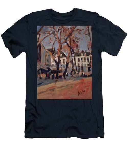 Last Sunbeams Our Lady Square Maastricht Men's T-Shirt (Slim Fit) by Nop Briex