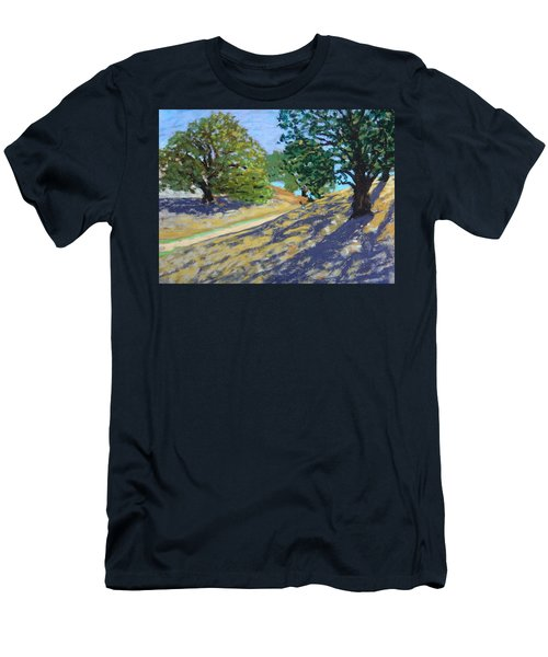 Men's T-Shirt (Slim Fit) featuring the painting Late Light's Shadows by Gary Coleman