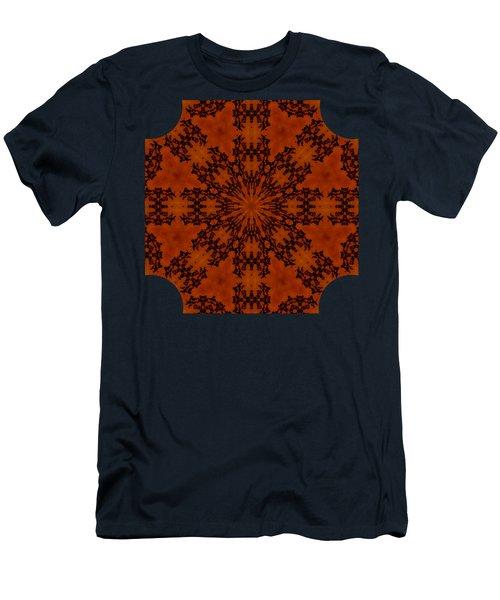 Leafy Kaleidoscope 1 Men's T-Shirt (Slim Fit) by Lori Kingston