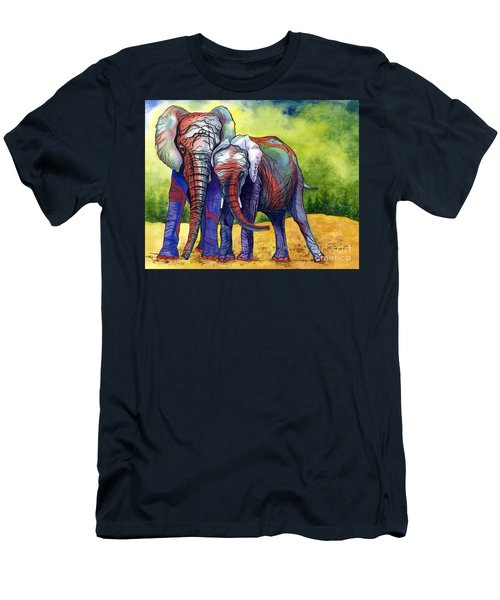 Men's T-Shirt (Slim Fit) featuring the painting Lean On Me by Barbara Jewell