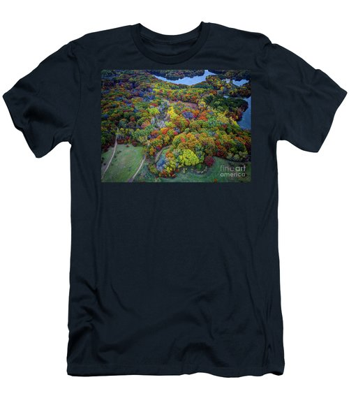 Lebanon Hills Park Eagan Mn Autumn II By Drone Men's T-Shirt (Athletic Fit)