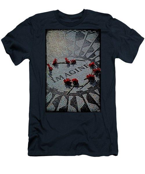 Lennon Memorial Men's T-Shirt (Athletic Fit)