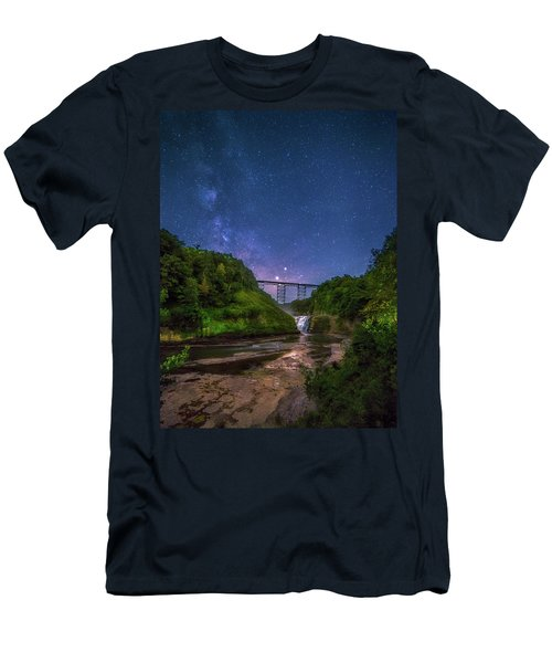 Letchworth At Night Men's T-Shirt (Athletic Fit)