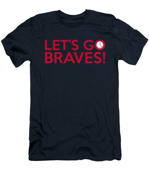 Let's Go Braves Men's T-Shirt (Slim Fit) by Florian Rodarte