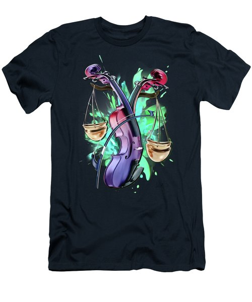 Libra Men's T-Shirt (Slim Fit) by Melanie D