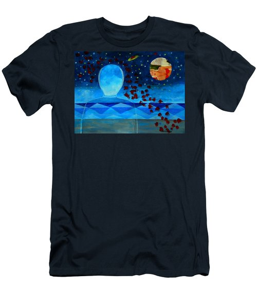 Life In Glass And Fake World Men's T-Shirt (Athletic Fit)