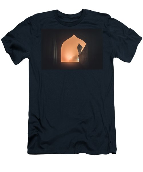 Men's T-Shirt (Athletic Fit) featuring the photograph Light Of Cathedral by Jenny Rainbow