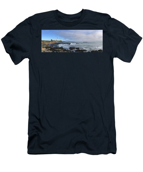 Lighthouse And Coastview Men's T-Shirt (Athletic Fit)