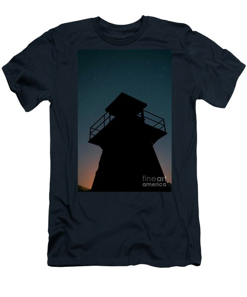Lighthouse At Night Prince Edward Island Men's T-Shirt (Athletic Fit)