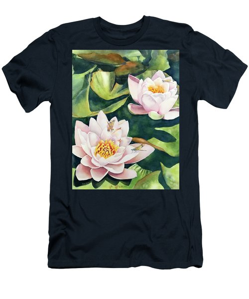 Lilies And Dragonflies Men's T-Shirt (Athletic Fit)