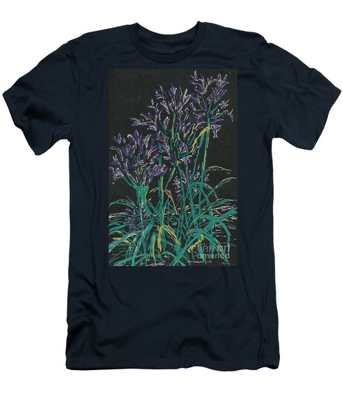 Men's T-Shirt (Slim Fit) featuring the mixed media Lily Of The Nile  by Vicki  Housel