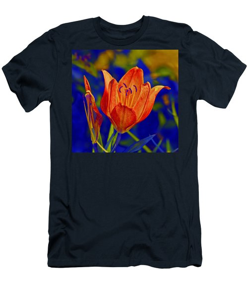 Men's T-Shirt (Slim Fit) featuring the photograph Lily With Sabattier by Bill Barber