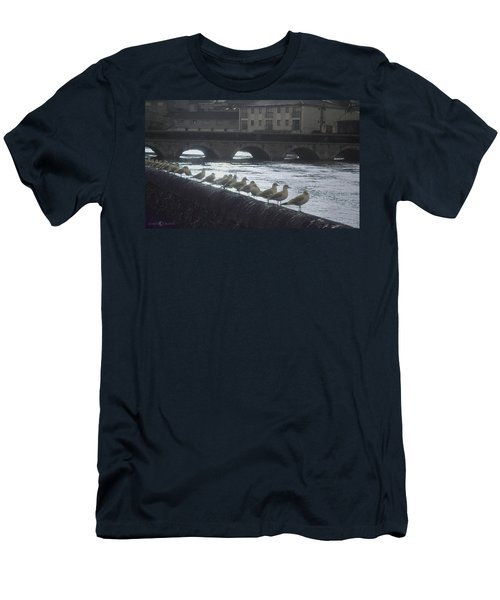 Line Of Birds Men's T-Shirt (Athletic Fit)