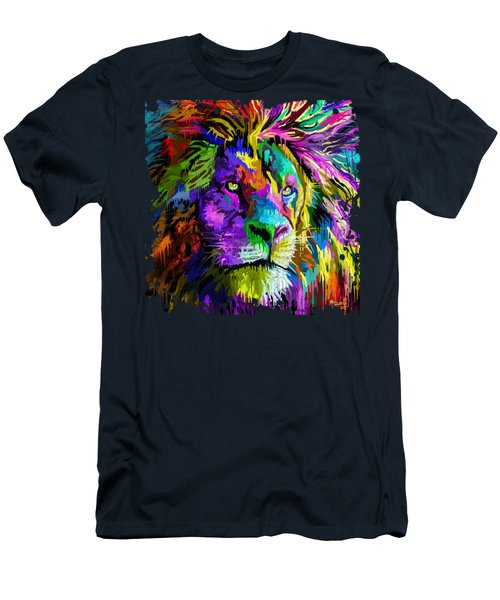 Lion Head Men's T-Shirt (Athletic Fit)