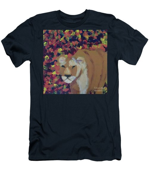 Men's T-Shirt (Athletic Fit) featuring the painting Lioness Pride 1 Of 6 by Donald J Ryker III