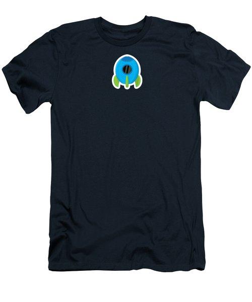 Little Blue Rocket Ship Men's T-Shirt (Athletic Fit)