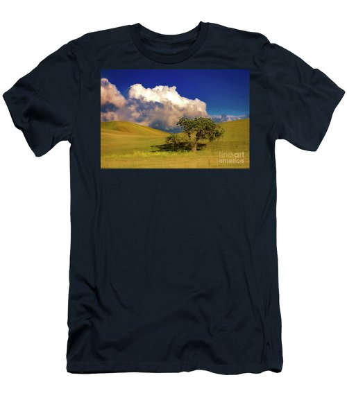 Men's T-Shirt (Slim Fit) featuring the photograph Lone Tree With Storm Clouds by John A Rodriguez