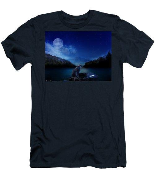 Lonely Hunter Men's T-Shirt (Slim Fit) by Bernd Hau