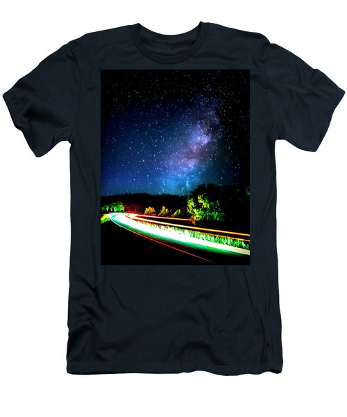 Men's T-Shirt (Slim Fit) featuring the photograph Lonesome Texas Highway by David Morefield