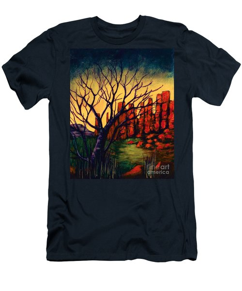 Lonesome Tree  Men's T-Shirt (Athletic Fit)