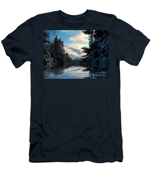 Men's T-Shirt (Slim Fit) featuring the photograph Looking Glass by Elfriede Fulda