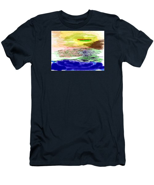Looking Outward From The Blue Men's T-Shirt (Athletic Fit)