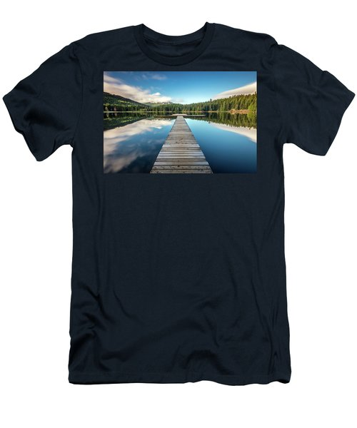 Lost Lake Dream Whistler Men's T-Shirt (Slim Fit) by Pierre Leclerc Photography
