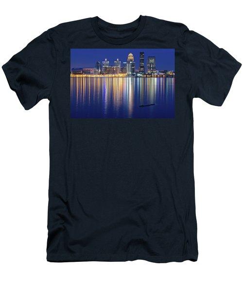 Louisville During Blue Hour Men's T-Shirt (Athletic Fit)