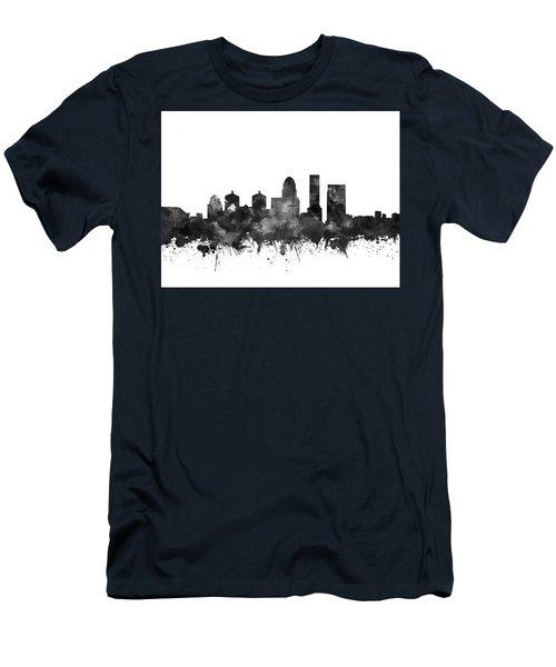 Louisville Kentucky Skyline Watercolo5 Men's T-Shirt (Athletic Fit)