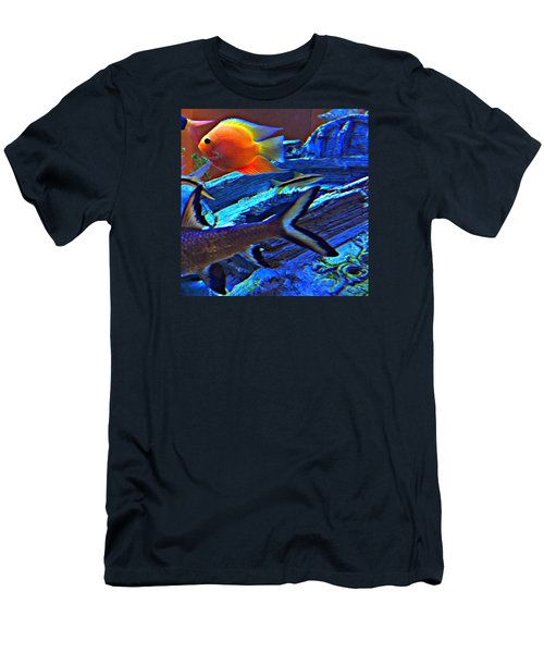 Love The Sea Men's T-Shirt (Slim Fit) by Peggy Stokes