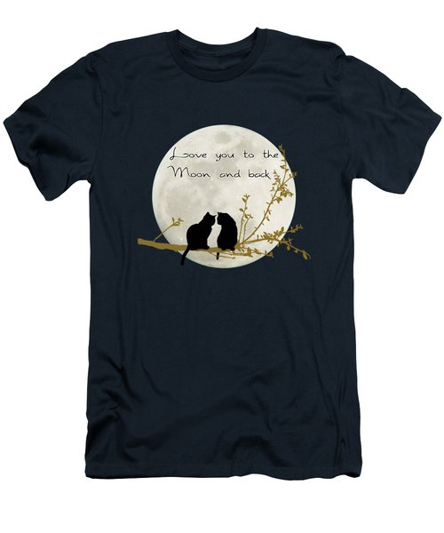 Love You To The Moon And Back Men's T-Shirt (Athletic Fit)
