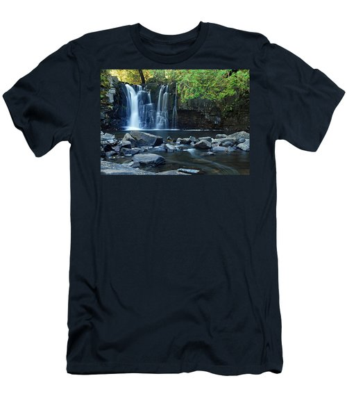 Lower Johnson Falls Men's T-Shirt (Slim Fit) by Larry Ricker