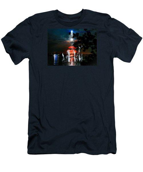 Lunar Event Horizon Men's T-Shirt (Slim Fit) by Glenn Feron